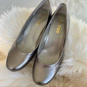 Me Too Dark Silver leathcr Shoes - Size 7